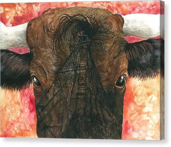 Derricks And Cowlicks Canvas Print