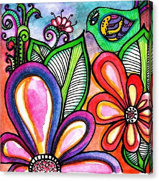 Robins Canvas Print - Derwent Inktense Pencils by Robin Mead