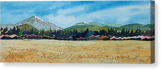 Deschutes River View Canvas Print