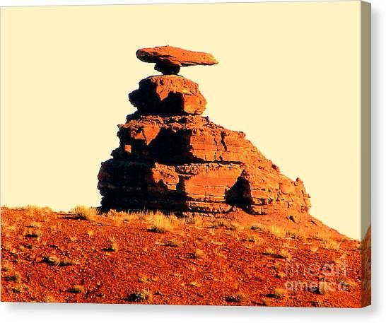 Desert Balance Act Canvas Print by John Potts