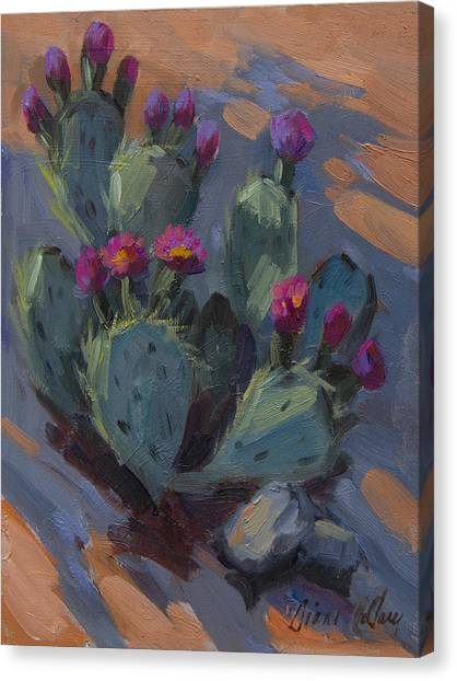 Beavers Canvas Print - Desert Beaver Tail Cactus by Diane McClary