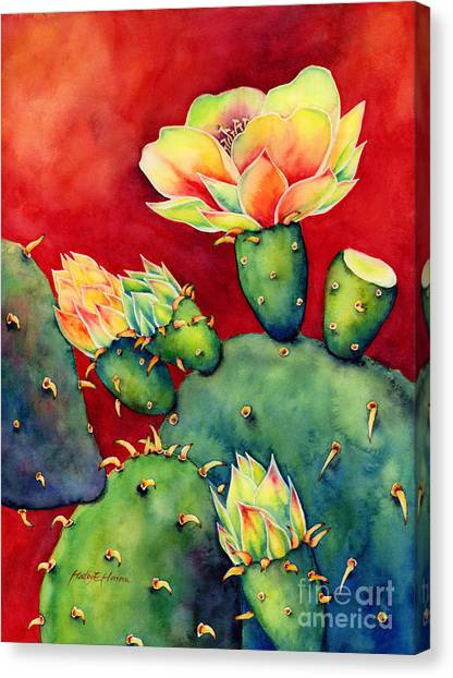 Watercolor Canvas Print - Desert Bloom by Hailey E Herrera