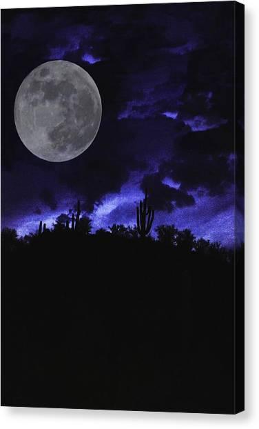Desert Blue Canvas Print by Alfredo Martinez