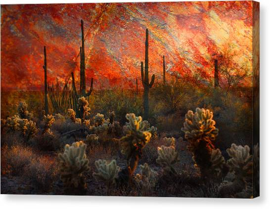 Desert Burn Canvas Print