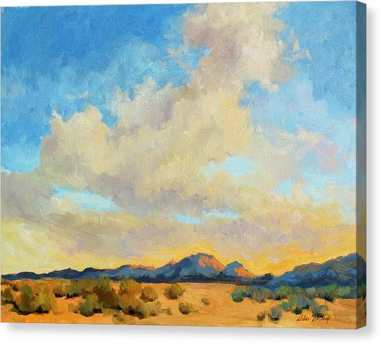 Mountain Sunset Canvas Print - Desert Clouds by Diane McClary