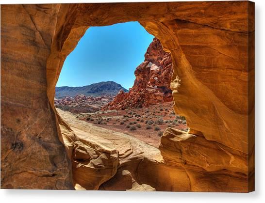 Desert Crevice Canvas Print