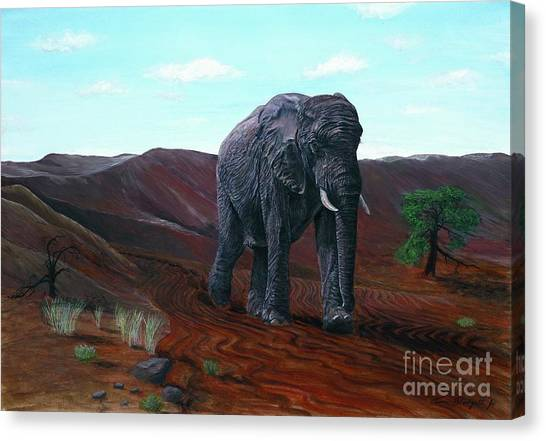 Desert Elephant Canvas Print