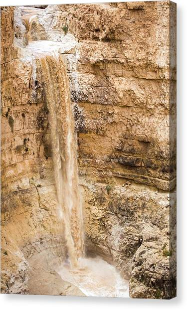 Negev Desert Canvas Print - Desert Flash Flood by Photostock-israel