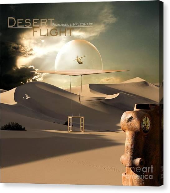 Sandy Desert Canvas Print - Desert Flight by Franziskus Pfleghart