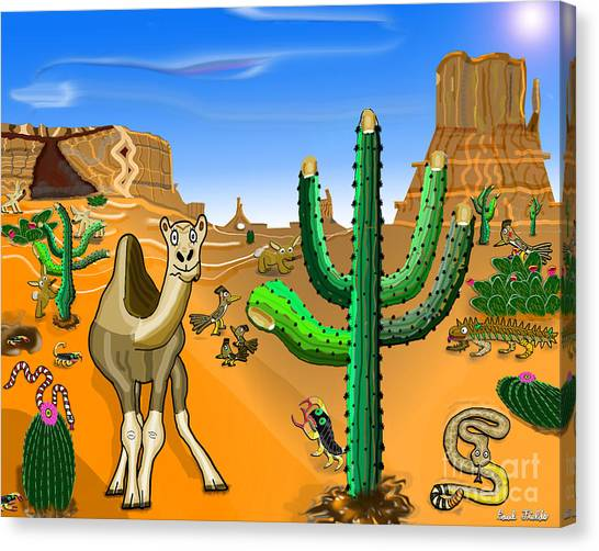 Desert Hands Canvas Print