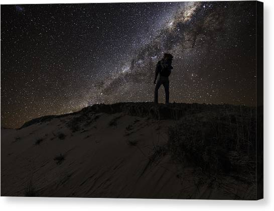 Desert Hiking Canvas Print