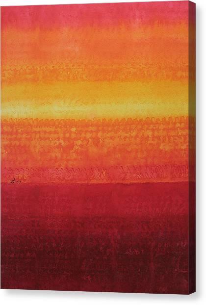 Desert Horizon Original Painting Canvas Print