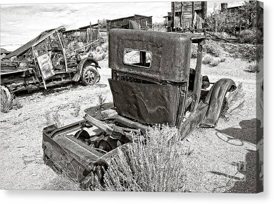 Desert Idle In Black And White Canvas Print
