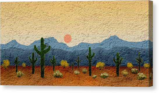 Mountain Caves Canvas Print - Desert Impressions by Gordon Beck