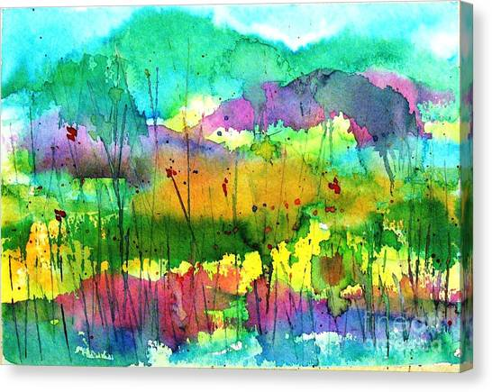 Desert In The Spring Canvas Print
