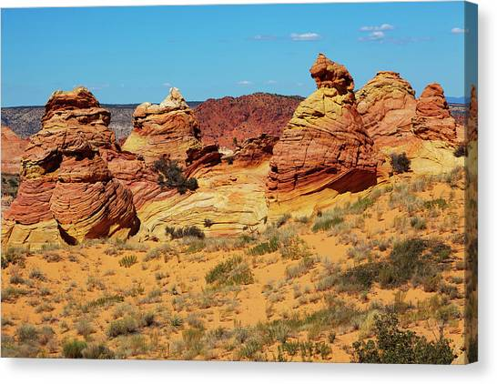 Desert Landscape Canvas Print by Lucynakoch