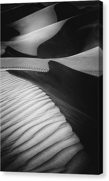 Sand Dunes Canvas Print - Desert Light by Rami Al Adwan
