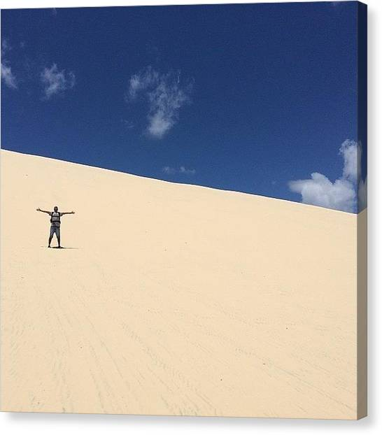 Sahara Desert Canvas Print - #desert #moretonisland #tangalooma by Tony Keim