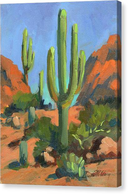 Cactus Canvas Print - Desert Morning Saguaro by Diane McClary