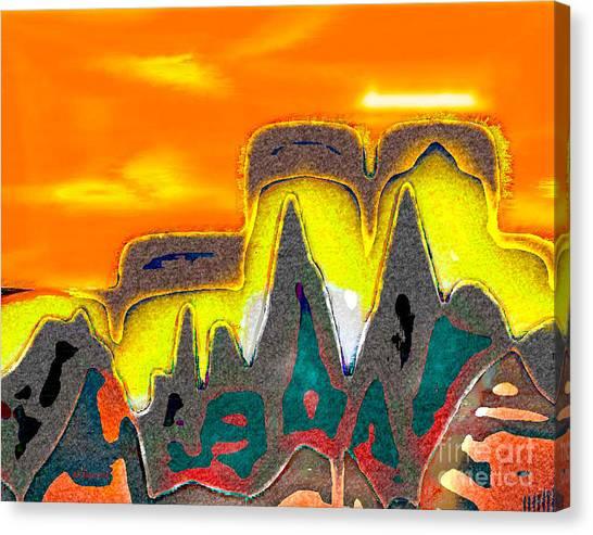 Desert Mountain Abstract Canvas Print