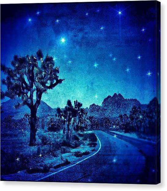 Geometric Canvas Print - #desert #night #nationalpark #darkness by Jill Battaglia