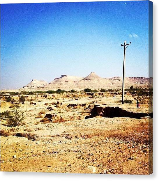 Thar Desert Canvas Print - Desert Of Tharparkar, Vast And by Salman Junejo
