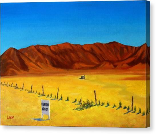 Desert Privacy, Peru Impression Canvas Print