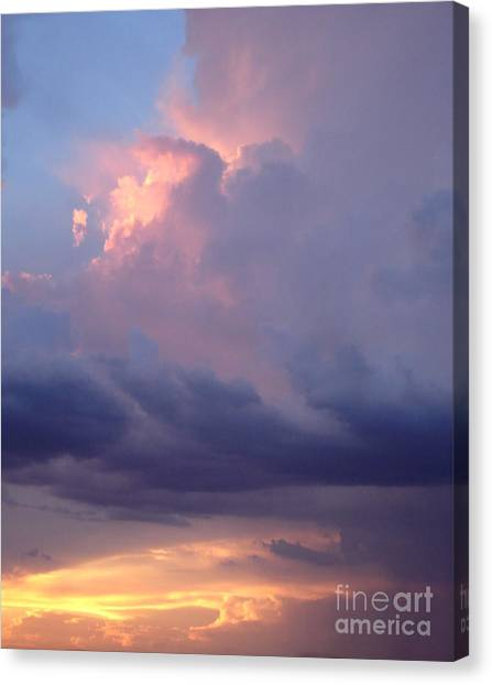 Desert Rainstorm 6 Canvas Print