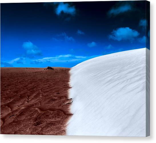 Canvas Print featuring the photograph Desert Sand And Sky by Julian Cook
