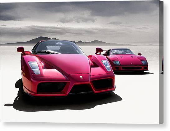 Ferrari Canvas Print - Desert Showdown by Douglas Pittman