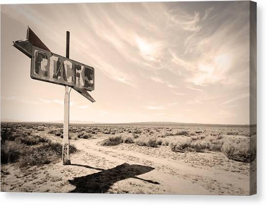 Desert Sign Canvas Print by Rick Rhay