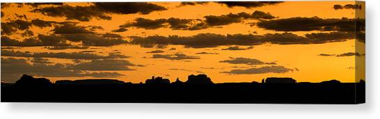 Desert Sunsets Canvas Print - Desert Sky Panorama by Steve Gadomski