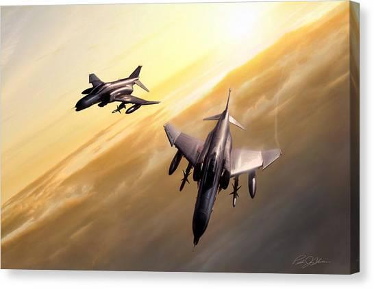 Sidewinders Canvas Print - Desert Sky Weasels by Peter Chilelli