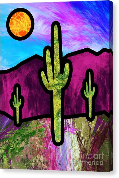 Desert Stained Glass Canvas Print