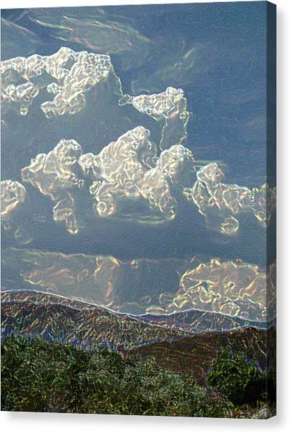 Desert Summer Rain 5 Canvas Print