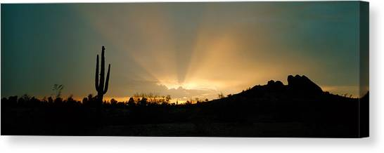 Etherial Canvas Print - Desert Sun Beams, Near Phoenix by Panoramic Images