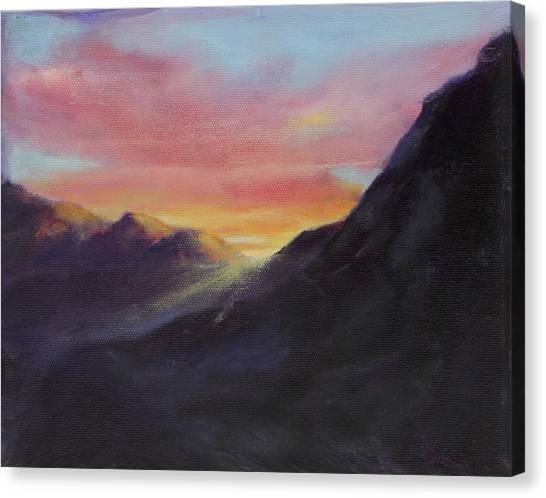 Desert Sunrises Canvas Print - Easter Sunrise by Maria Hunt