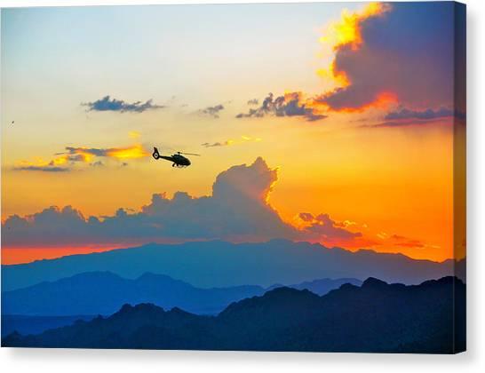 Desert Sunset Canvas Print by Amanda Miles