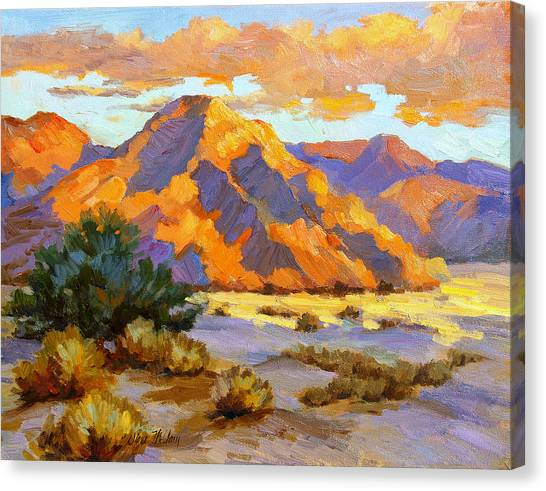 Oasis Canvas Print - Desert Sunset by Diane McClary