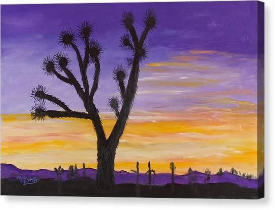Desert Sunset Canvas Print by Margaret Pappas