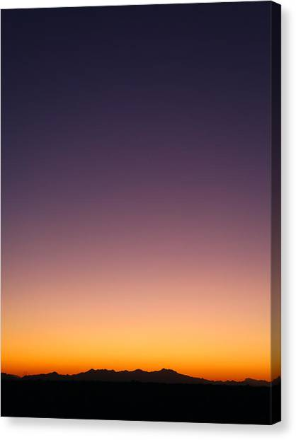 Canvas Print featuring the photograph Desert Twilight by Brad Brizek