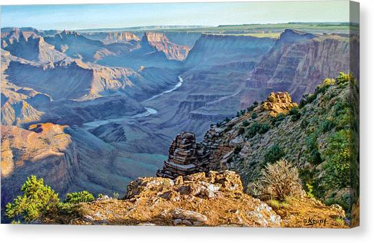 Desert View-morning Canvas Print by Paul Krapf