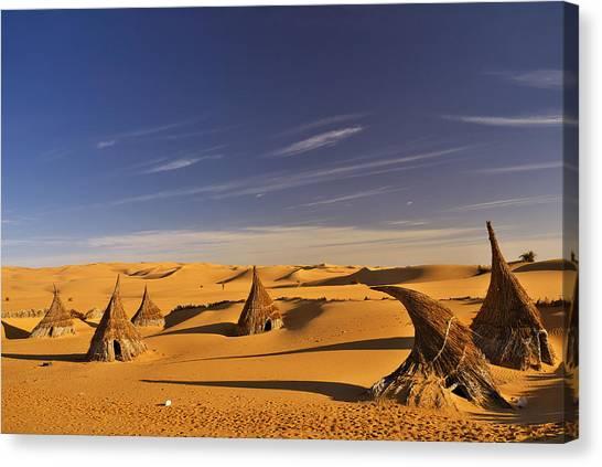 Desert Village Canvas Print