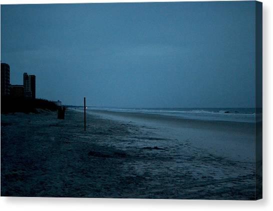 Deserted Beach Canvas Print by Victoria Clark