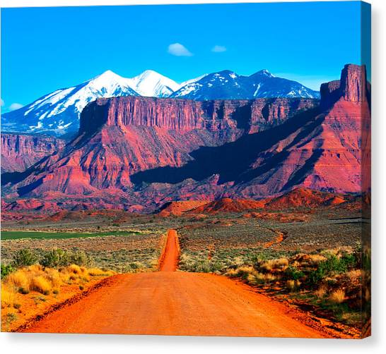 Deserted Dirt Road Canvas Print