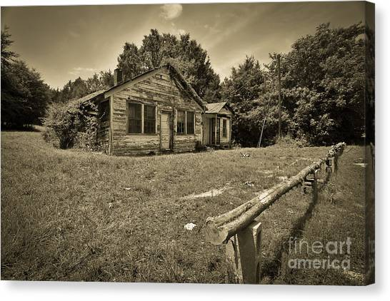 Deserted House Canvas Print by Mina Isaac