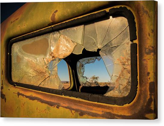 Trucks Canvas Print - Deserted by Linda Wride