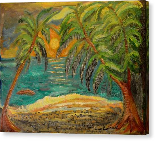 Canvas Print - Deserted Tropical Sunset by Louise Burkhardt
