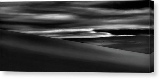 White Sand Canvas Print - Deserts Are The Soul Of The World ... by Yvette Depaepe