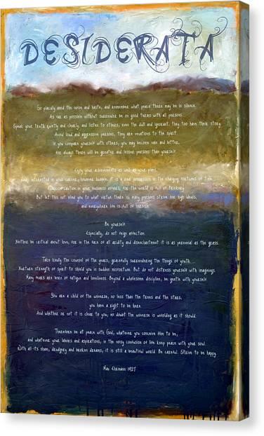 Desiderata Lll Canvas Print
